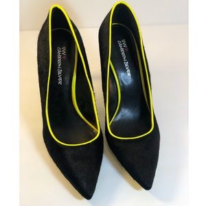 9W Cameron Silver -Jace Nine West Black Lime Green